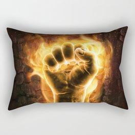 Fire fist Rectangular Pillow
