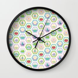 Sewing Quilting Flat Pattern Wall Clock
