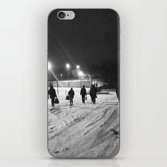 Walking in the snow iPhone & iPod Skin