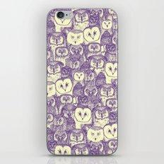 just owls purple cream iPhone & iPod Skin