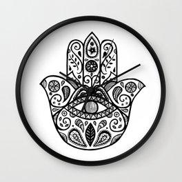 The hamsa hand Wall Clock