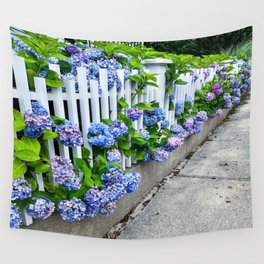 Flowery Fence  Wall Tapestry