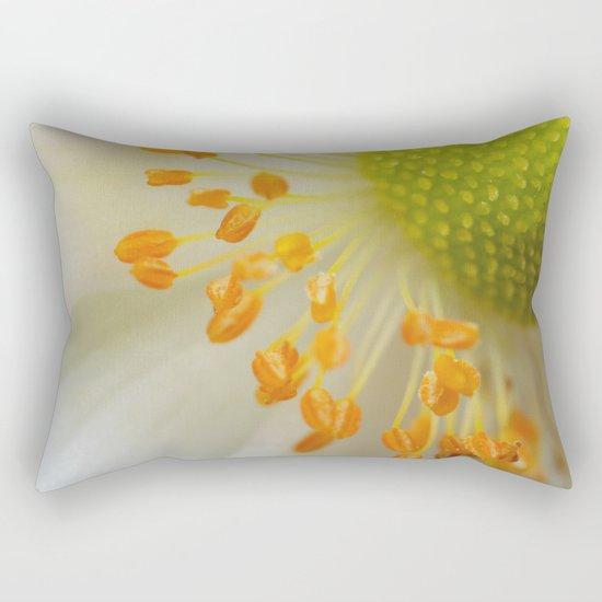 Green and Fluffy Rectangular Pillow