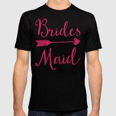 Bridesmaid Wedding Quote MEDIUM Mens Fitted Tee Black
