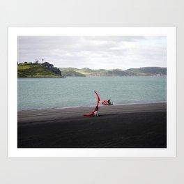 """LAUNCHING RAGLAN"" kitesurf . kite . surf Art Print"