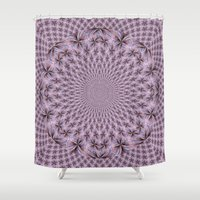 pantone Shower Curtains featuring Pantone Flowery Kaleidoscope by Bella Mahri-PhotoArt By Tina
