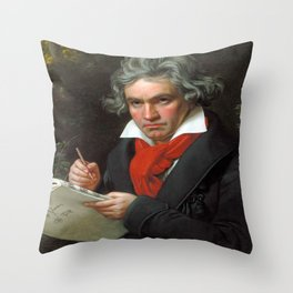 Joseph Karl Stieler - Portrait of Beethoven Throw Pillow