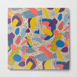 Memphis Inspired Pattern 2 Metal Print