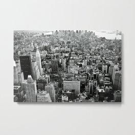 NEW YORK CITY # Black&White Metal Print
