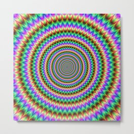 Psychedelic Circles Metal Print