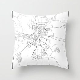 Minimal City Maps - Map Of Grodno, Belarus. Throw Pillow