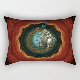 Alice In Wonderland - Let The Magic Begin Rectangular Pillow
