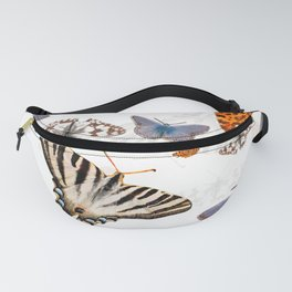 Colorful butterflies of europe Fanny Pack