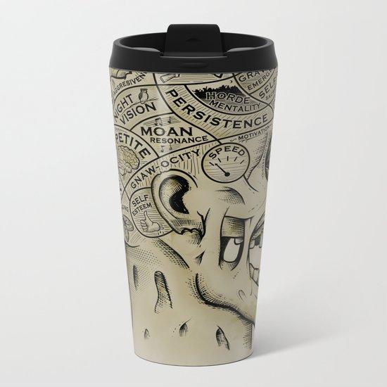 Zombie Phrenology Metal Travel Mug