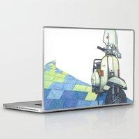 vespa Laptop & iPad Skins featuring vespa by Miyuki Sakurai