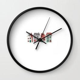 Little Houses Wall Clock