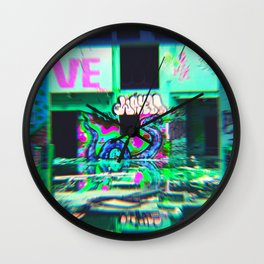 Swamp Murals - RG_Glitch Series Wall Clock