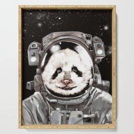 Astronaut Panda Selfie Serving Tray