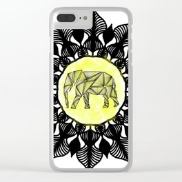 Ancient Elephant Clear iPhone Case