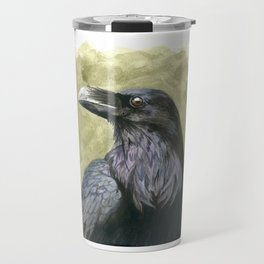 Proud Raven - Watercolor Travel Mug