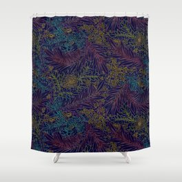 Digging the Floral Shower Curtain