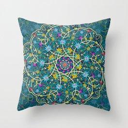 Turquoise swirl Throw Pillow