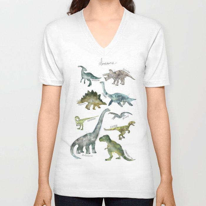 Dinosaurs Unisex V-Ausschnitt