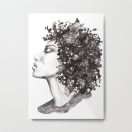 Big hair Metal Print