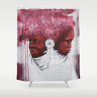 african Shower Curtains featuring African  by Sebastian Wandl