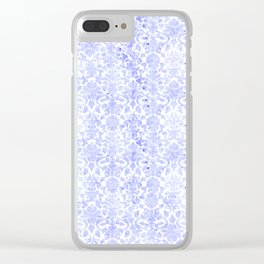 Periwinkle Damask Clear iPhone Case