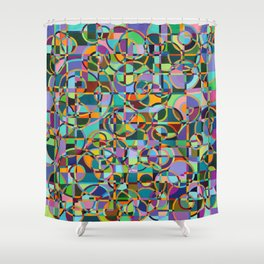 Emergence Refraction Shower Curtain