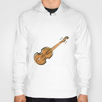 violin Hoodies featuring Violin by shopaholic chick