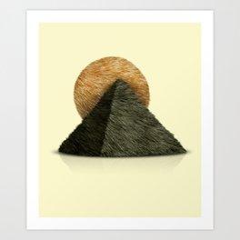 Hair in desert Art Print
