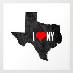 I (Heart) TX Art Print
