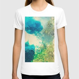 Retro Abstract Photography Underwater Bubble Design T-shirt