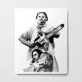 They Call Him Leatherface Metal Print