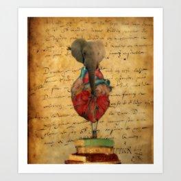 Elephant Heart  Art Print