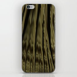 Gold and Black Fractal iPhone Skin