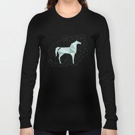 Blue Horse by Frzitin Long Sleeve T-shirt