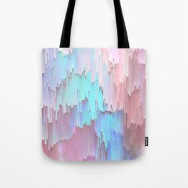 Pastel Glitches Fall Tote Bag