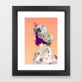 Geisha Under the Sun Framed Art Print