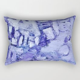 Abstract in blue and purple Rectangular Pillow