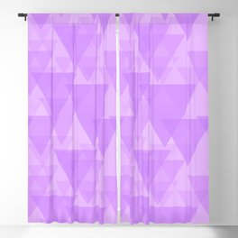 Delicate pink triangles in intersection and overlay. Blackout Curtain