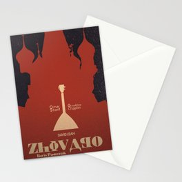 Doctor Zhivago, David Lean, Omar Sharif, Boris Pasternak book, minimalist movie poster, Russia film Stationery Cards