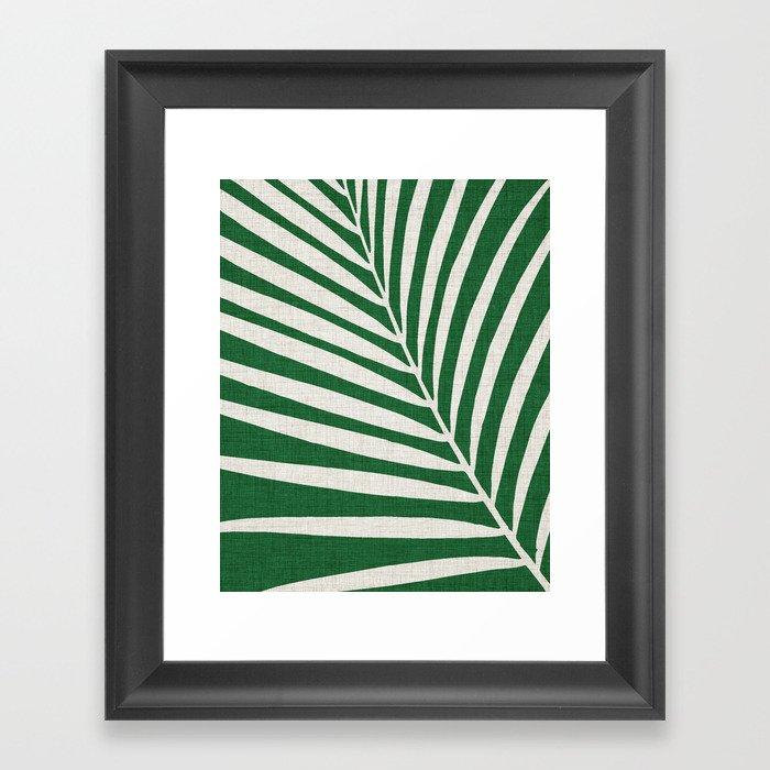 Minimalist Palm Leaf Gerahmter Kunstdruck