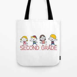 Second Grade School Tote Bag