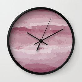 Magenta Color Wash Wall Clock