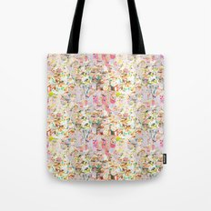 Abstract Springtime Watercolor Pattern Tote Bag