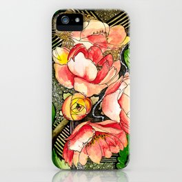 Flower Mixed-Media iPhone Case