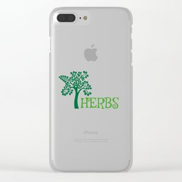 Adorable Cute Herbs Gardening Weeding Clear iPhone Case